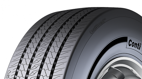 All ContiTread™ treads such as the new Conti Urban HA3 M+S for tires on city buses, are marked with the ContiTread™ symbol. (Image: Continental AG)